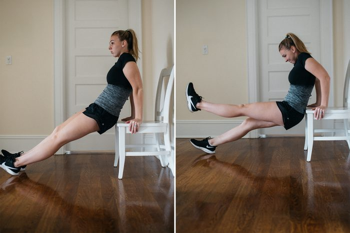 chair dip exercise at home workout