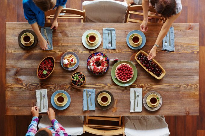 desserts top view