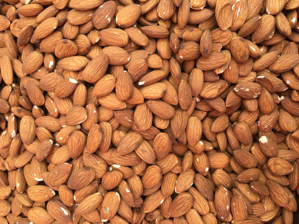 Almonds closeup