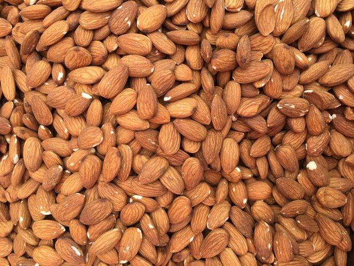 Almonds closeup