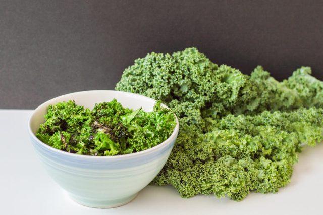 bowl of kale
