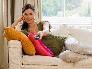 woman on sofa