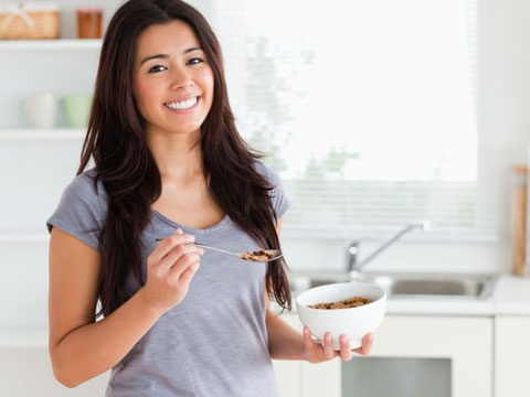 what happens when, woman eating cereal