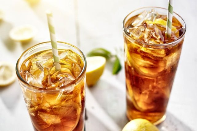glasses of antioxidant-rich iced tea