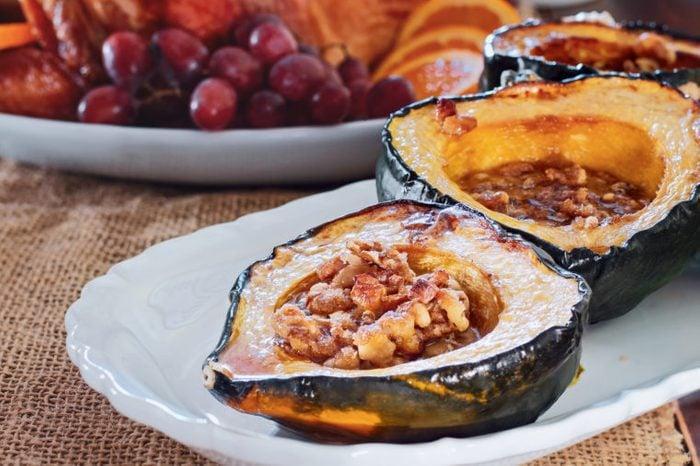 acorn squash spice apples walnuts thanksgiving