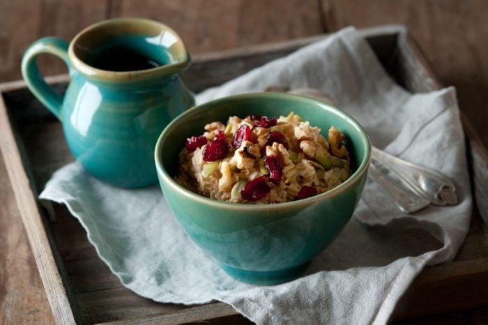 oatmeal walnut cranberries cereal warm