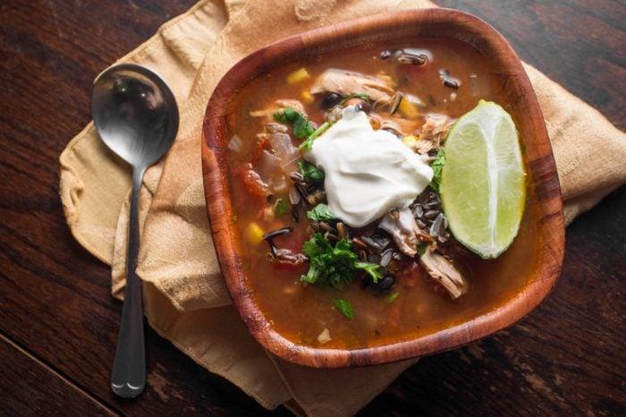 southwest chipotle soup sour cream