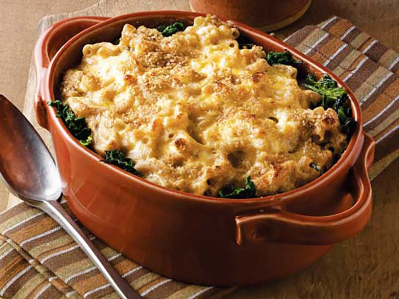 Whole-Wheat Mac and Cheese with Spinach Recipe