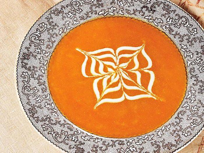 spicy ginger pumpkin soup