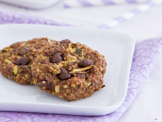 Quinoa chocolate chip zucchini breakfast cookies.