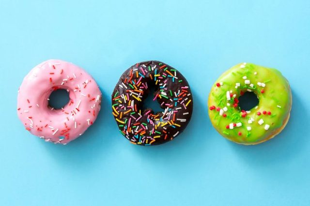 donuts blue background