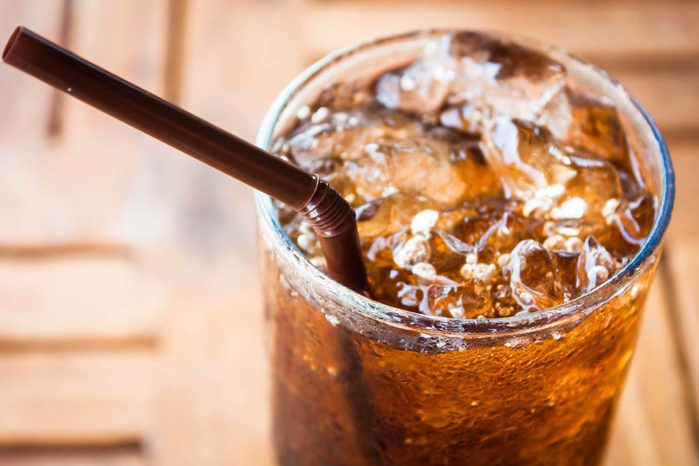 soda with straw