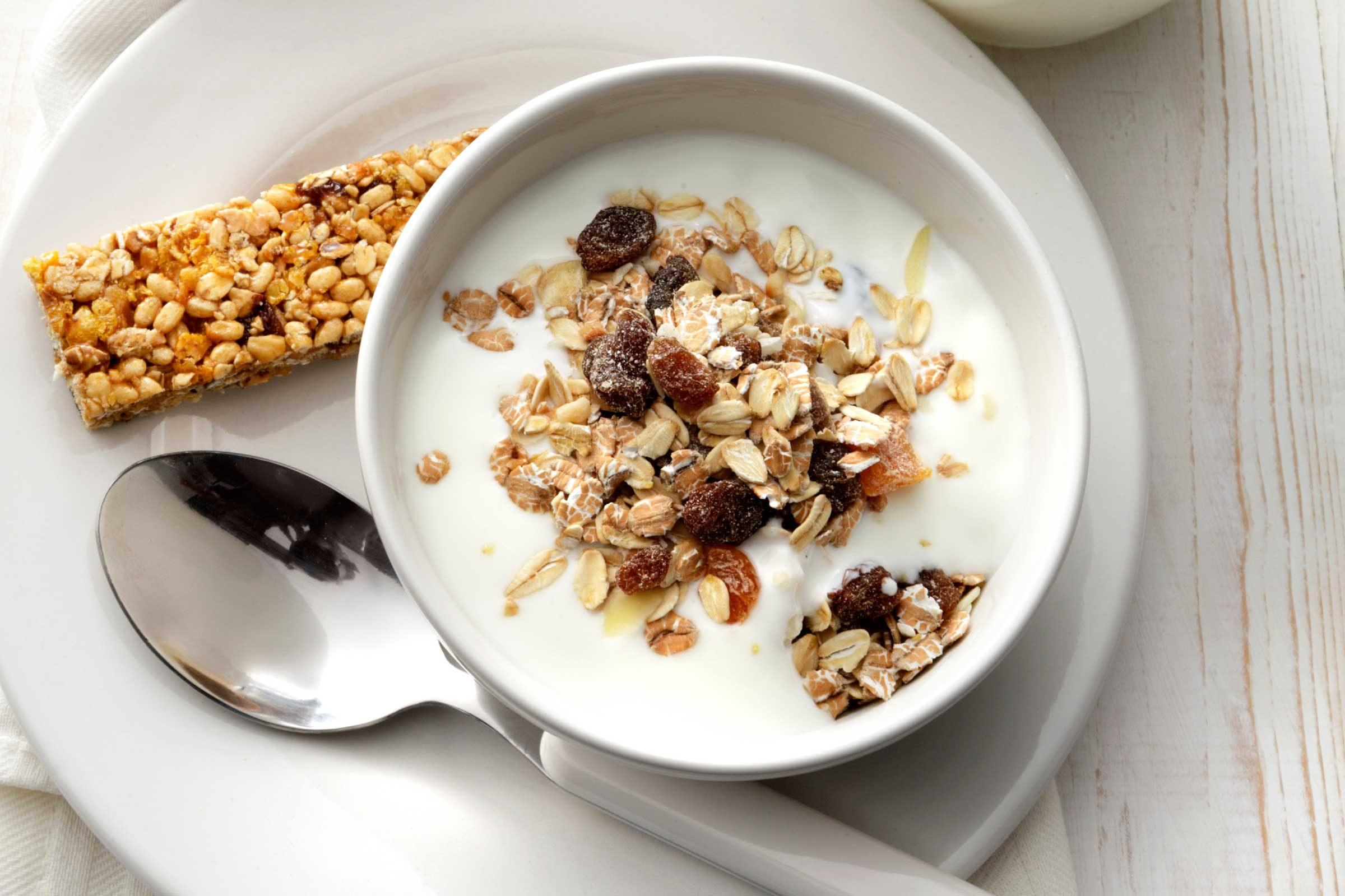 bowl of yogurt with granola