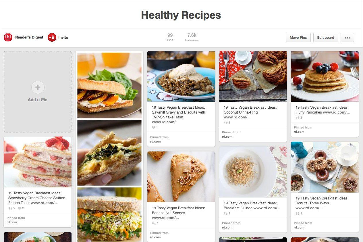 healthy recipes on pinterest