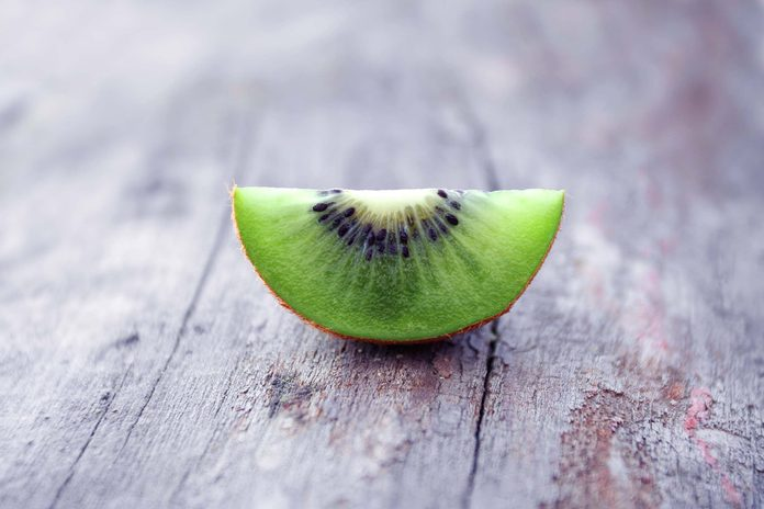 wedge of green kiwi