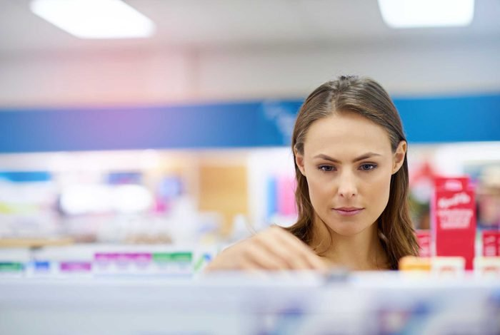 woman shopping for medication