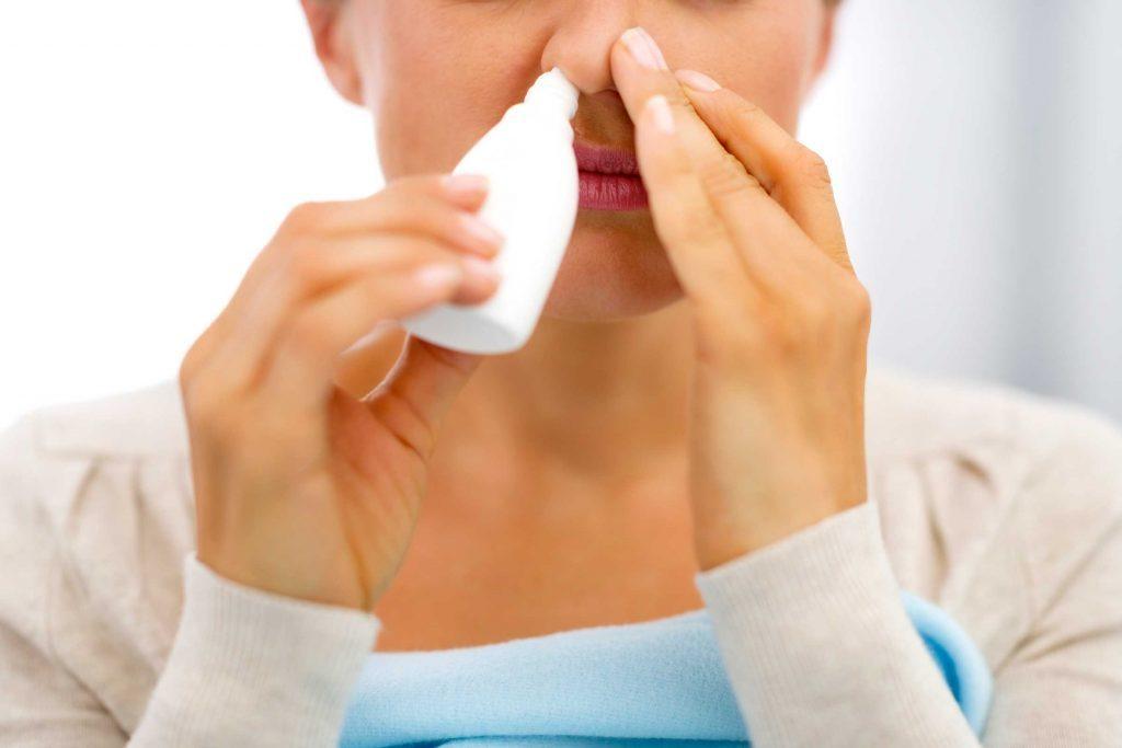 allergy symptoms saline spray
