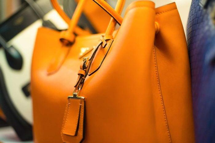 large yellow purse