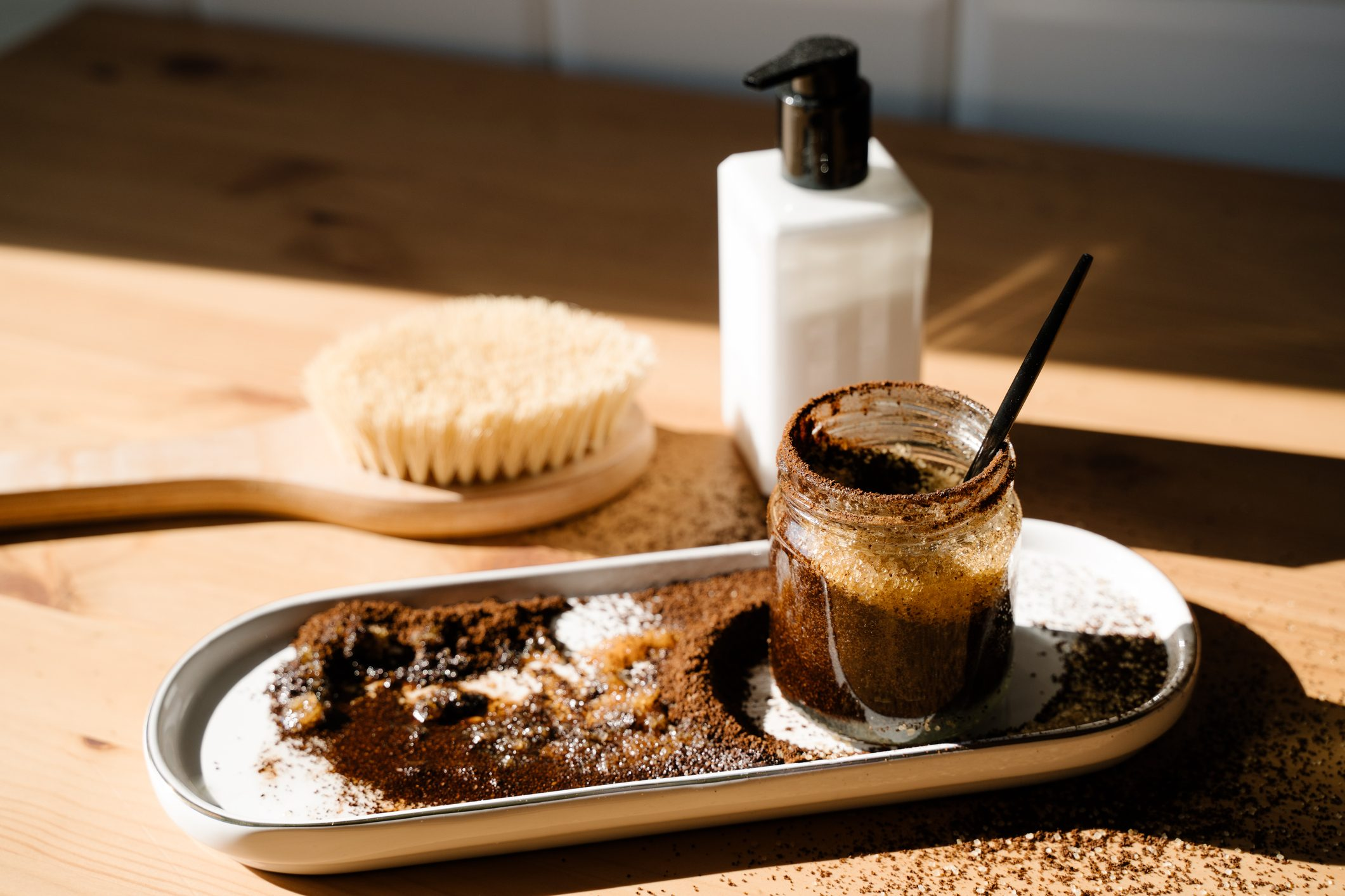 homemade coffee scrub