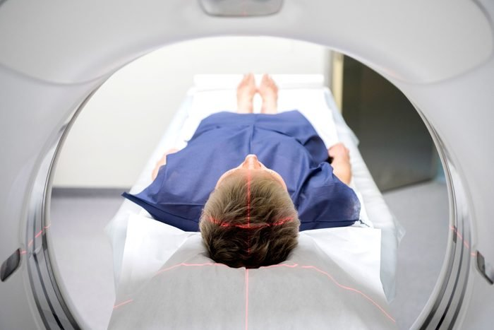 patient inside MRI machine