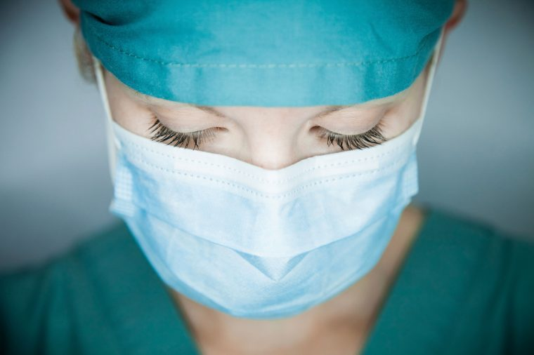 healthcare worker in surgical mask