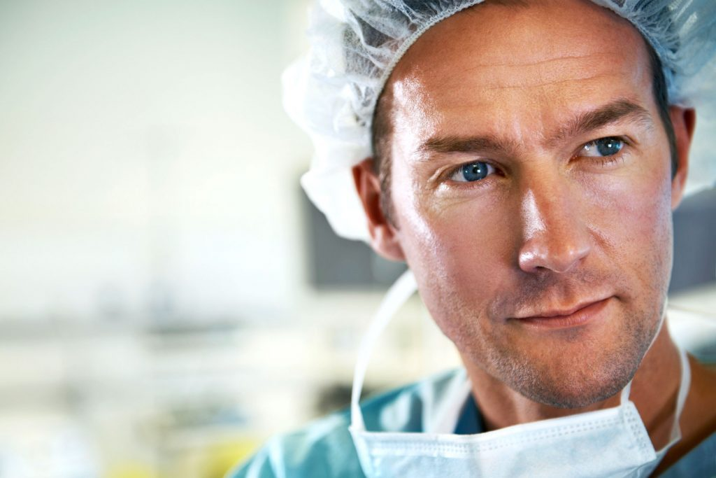 surgeon looking pensive
