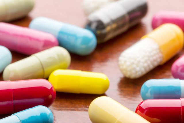 colorful pill capsules