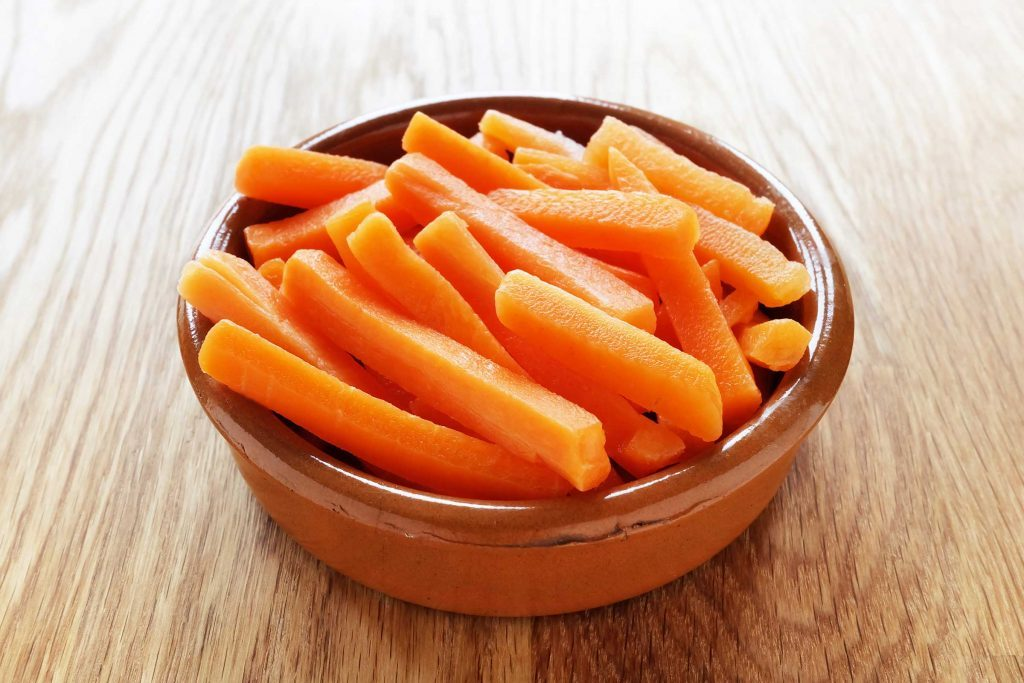 bowl of carrot sticks