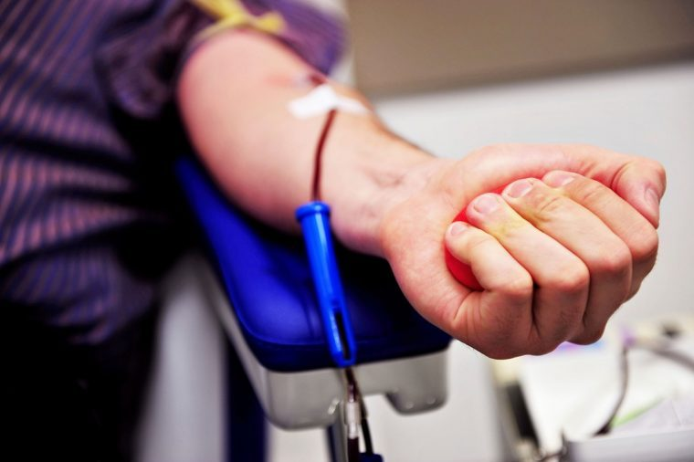 blood donor's arm