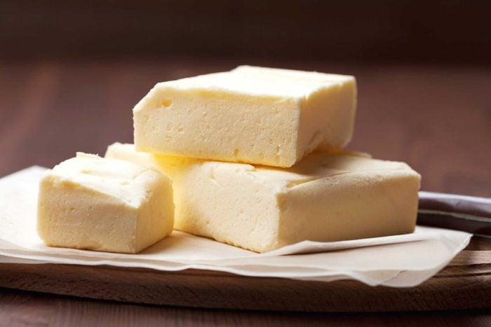 Blocks of butter.