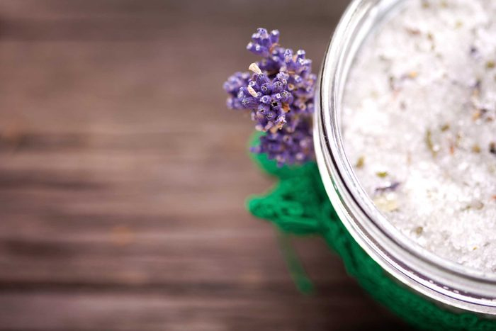 Natural lavender skin care product.
