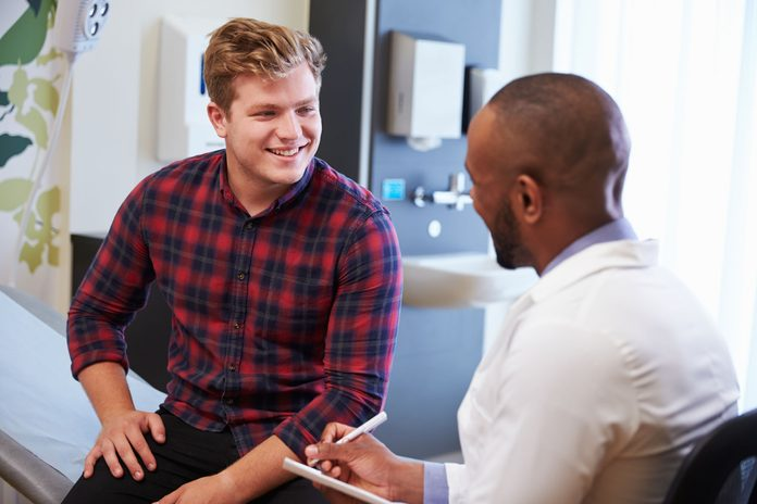 patient talking to doctor