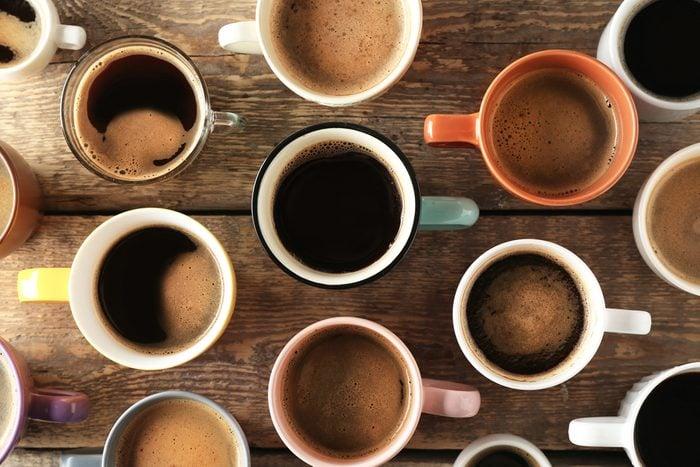 mugs of hot coffee