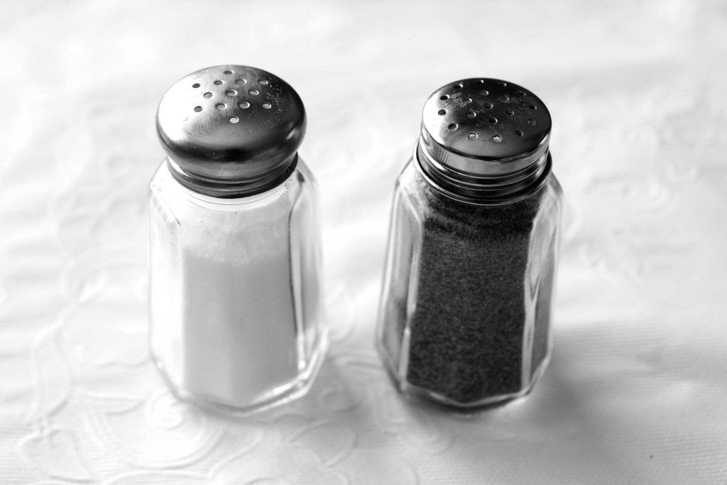 Salt and pepper shakers.