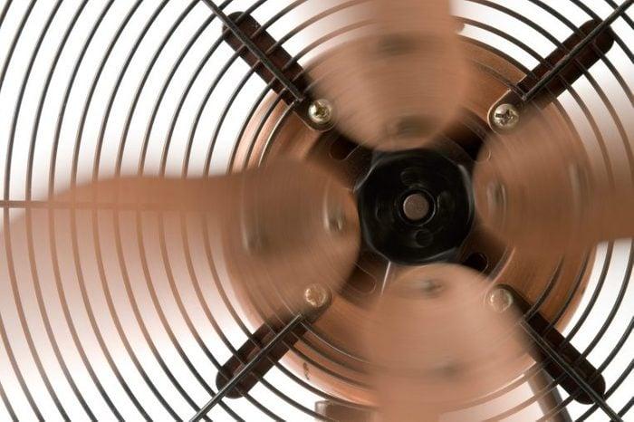 Close-up of a running fan.