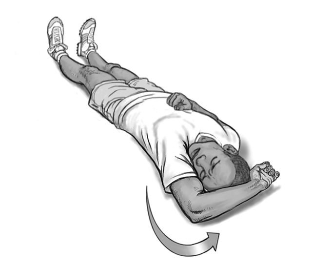 dislocated shoulder arm rotation 3