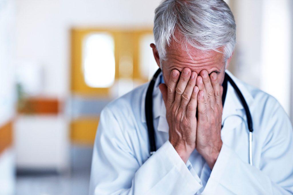 doctor delivers bad news