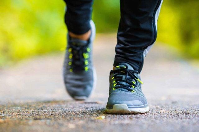 sneakers walking