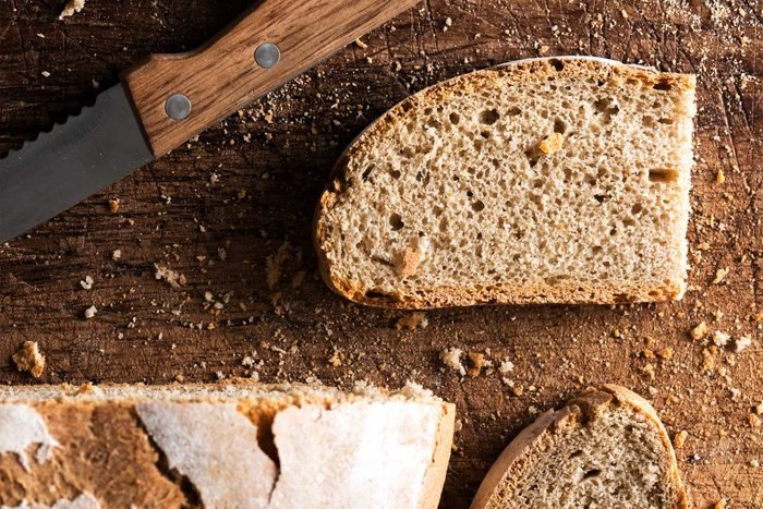 slice of grainy brown bread