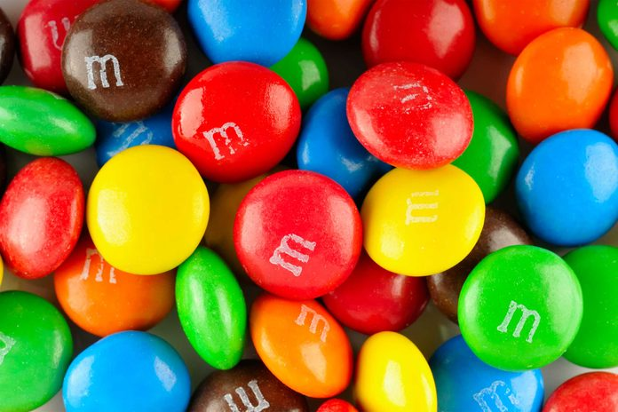 colorful M&M's candy