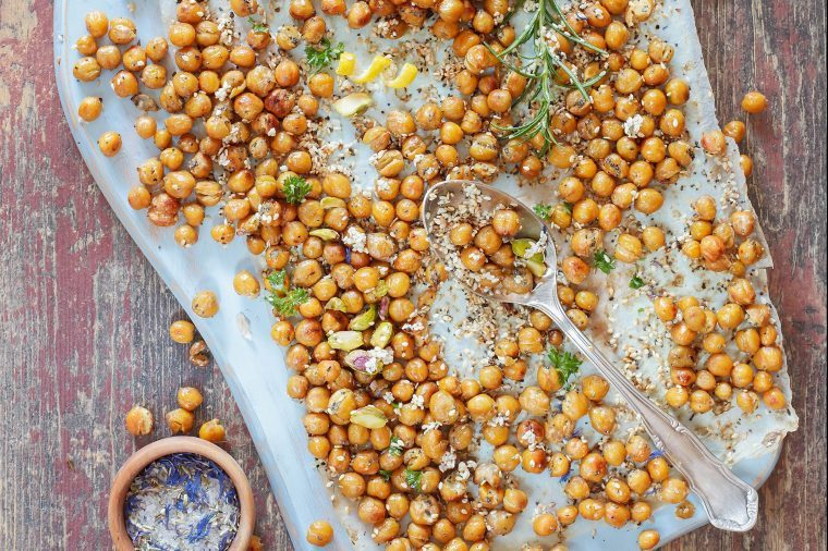 Roasted chickpeas.