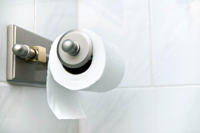 roll of toilet paper on hanger
