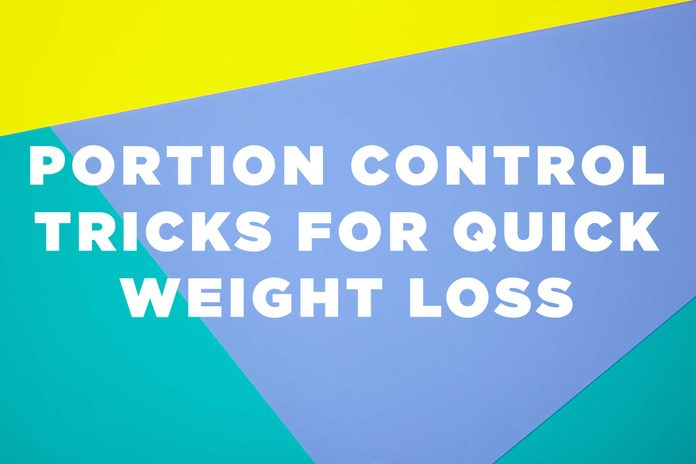 Illustration of portion control tricks for weight loss