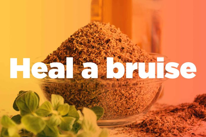 """graphic saying """"Heal a bruise"""""""