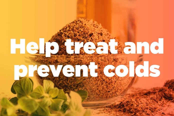 "graphic saying ""Help treat and prevent colds"""