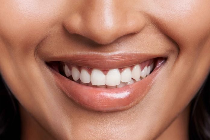 close-up of woman's smile