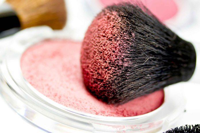 close up of a makeup brush