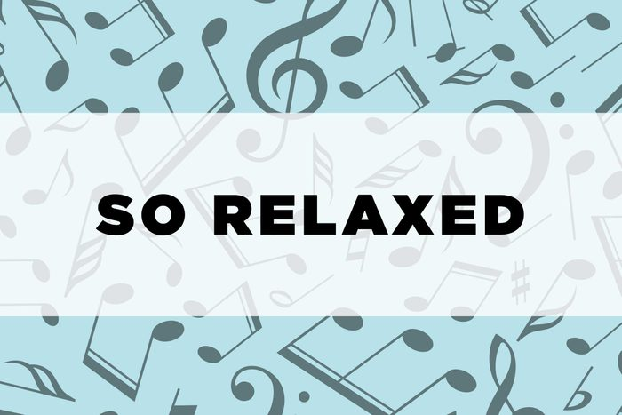 graphic text: So relaxed