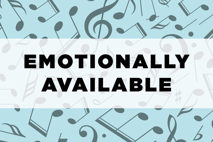 graphic text: Emotionally available