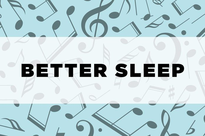 graphic text: Better sleep